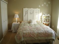 The Dreaming Bedroom Styled with Beige Wall Paint and White Furniture.