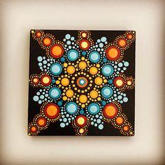 Items similar to Mandala / Meditation/ Painting / mini canvas / Dot Art / Hand Painted on Etsy
