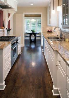 Oak floors stained dark