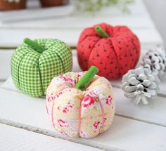 These adorable little fabric pumpkins are one of the charming projects from Helen Philipps' fantastic new book, Modern Vintage Gifts.