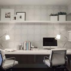 Two Person Desk, Contemporary, Den/library/office, Shift Interiors