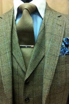 ' — Tweed Gentleman's Essentials Style Gentleman, Der Gentleman, Sharp Dressed Man, Well Dressed Men, Style Dandy, Look Fashion, Mens Fashion, La Mode Masculine, Suit And Tie
