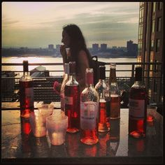 Amazing birthday with tons of rooftop rosé! Couldn't ask for a better night. #wine