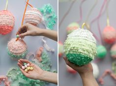 Making Mini Easter Egg Pinatas with Oh Happy Day! #easter #pinata #candy
