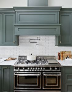 Love the kitchen oven range stove and simple vent hood. Not sure on pot filler- … Love the kitchen oven Kitchen Oven, New Kitchen Cabinets, Kitchen Shelves, Cool Kitchen Appliances, Inset Cabinets, Home Decor Kitchen, Kitchen Furniture, Kitchen Interior, Beautiful Kitchens