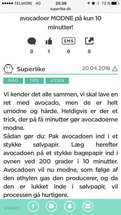Kvik-modning af avocado