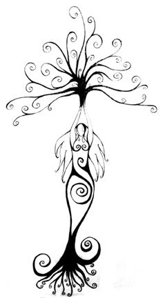 Would go very well with my other goddess tattoo Goddess Tattoo, Symbolic Tattoos, Book Of Shadows, Deathly Hallows Tattoo, Tree Of Life, Beautiful Tattoos, Line Art, Body Art Tattoos, Tatoos