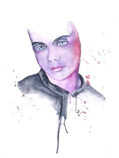 'Thoughtless' Portrait Painting by Guinevere Saunders Artist watercolor 2014
