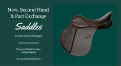 Michael Burleigh, Herefordshire based Master Saddler and Qualified Saddle Fitter…