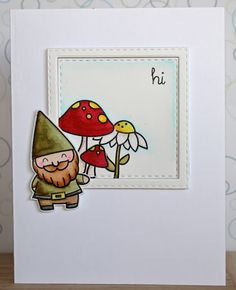 Cute Greeting Card by: There's a Card for That: Gnome Day, It's a Thing | ft. Lawn Fawn