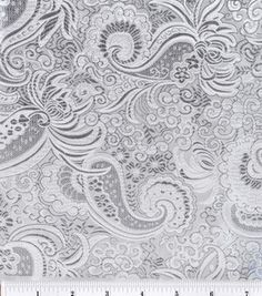 Brocade Fabric-Silver Metallic Paisley : special occasion fabric: apparel fabric: fabric: Shop | Joann.com