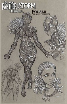 Black Panther Storm, Black Panther Comic, Black Love Art, Black Girl Art, Comic Books Art, Comic Art, Storm Marvel, Black Cartoon Characters, A Level Art Sketchbook