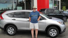 Congratulations George. That CRV will take you to all the great places you could ever want to go!