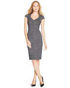 White House | Black Market Tweed Patterned Sheath Dress #whbm