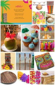 luau birthday party ideas | Festa Luau