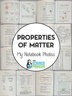 Properties of Matter Interactive Science Notebook Pics