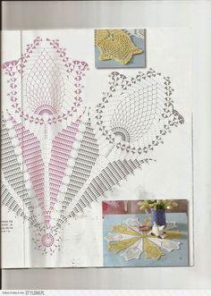 16 Super Ideas For Crochet Shawl Pineapple Diagram Crochet Dollies, Crochet Doily Patterns, Easter Crochet, Crochet Diagram, Crochet Chart, Thread Crochet, Crochet Motif, Crochet Stitches, Hand Crochet