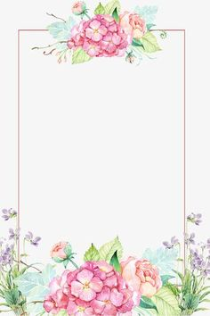 Flower borders,Hand-painted flowers,flowers,Poster background decoration