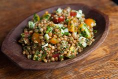 Wheat-Berry Tabbouleh by NYTimes.com. #Salad #Vegetarian