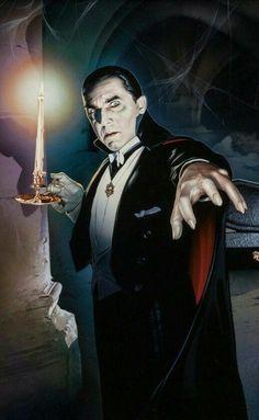 Bela Lugosi als Graf Dracula 1931 Classic Monster Movies, Classic Horror Movies, Classic Monsters, Serie Vampire, Vampire Art, Vampire Pics, Horror Icons, Horror Films, Horror Stories