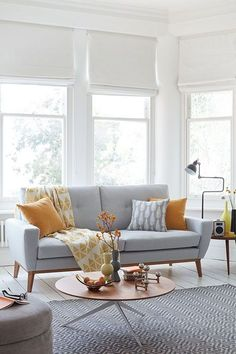 48 Comfy Living Room Designs For Small Spaces Ideas Small Living Room Ideas Comfy Designs forsmalls Ideas Living Room Small spaces Living Room Grey, Small Living Rooms, Living Room Chairs, Living Room Furniture, Living Room Designs, Living Room Decor, Modern Living, Tiny Living, 1950s Living Room