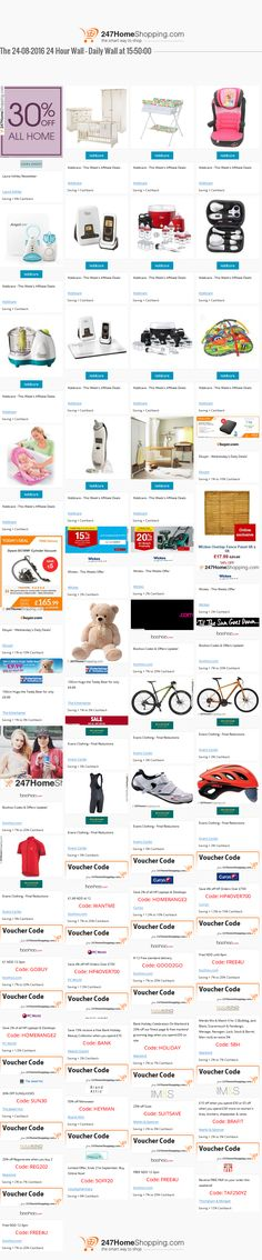 Our Savings for the 24/08/2016 at 15:51    Unmissable Deals on the 247homeshopping SUPER SAVER WALL!    http://www.247homeshopping.com/24-08-2016(24).htm?smm=pintwall24-08-2016-pFB1