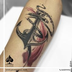 Anchor Tattoo by our new Ace Artist Artist Parth at ACE Tattooz & Art Studio INDIA www.acetattooz.com instagram : www.instagram.com/acetattooz/ #acetattooz #acetattoozindia #mumbaitattoo #anchortattoo #anchorttoo #anchorwheeeltattoo #steystrong #navylife