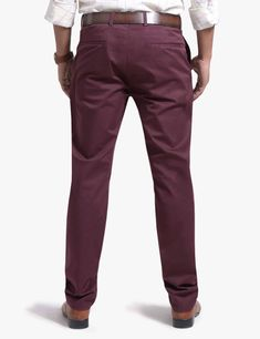 MEN'S STRETCH SLIM FIT CHINO PANTS – FLAT FRONT   118-6877-010405-36-21- #olgyn #malefashion #mesnoutfits #mensstyle #mensfashion #fashionformen #summer2018 #summerfashion #usa #chino #chinopants #menswear Mens Chino Pants, Denim Pants, Denim Outfit, Wholesale Clothing, Cotton Fabric, Burgundy, Menswear, Slim