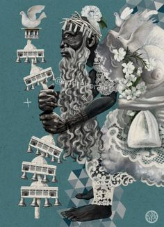 Oxala Voodoo, African Abstract Art, Orishas Yoruba, Yoruba Religion, Black Anime Characters, Esoteric Art, Deep Art, Spirited Art, Black Goddess
