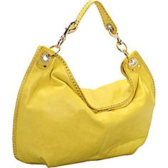 A bright handbag to brighten any outfit #yellow #handbag #fashion