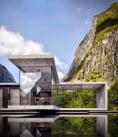 Alexander Nerovnya Architecture by the Lake - Baustil Concrete Architecture, Baroque Architecture, Modern Architecture House, Modern Buildings, Residential Architecture, Modern House Design, Amazing Architecture, Landscape Architecture, Interior Architecture