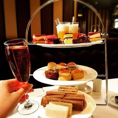 Chocolate Holic Afternoon Tea with champagne♡♡ #Afternoontea #London #chocolate #champagne #traditional #Flemings #Mayfair  #Hotel