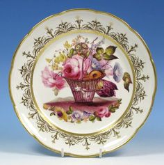 Nantgarw antique porcelain plate 1814-1820