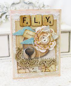 card, scrabble tiles