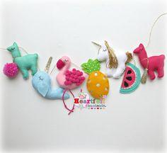 Unicornio narwhal de la nube de cosas por heartfelthandmade en Etsy