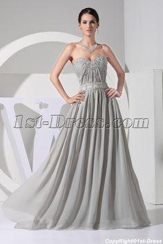 Plus Size evening gowns | ... Evening Dresses > Plus Size Evening Dresses >Elegant Gray Plus Size