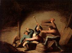 Adriaen van Ostade - Een gevecht