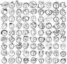 drawing funny faces - Google Search
