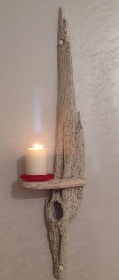 candeiro porta-vela em escória de madeira Driftwood Sconce Candle holder Art Crafts by COASTLINECRAFTS, £29.00