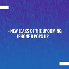 Just posted! New leaks of the upcoming iPhone 8 pops up. http://mytechnewsindia.blogspot.com/2017/07/new-leaks-of-upcoming-iphone-8-pops-up.html?utm_campaign=crowdfire&utm_content=crowdfire&utm_medium=social&utm_source=pinterest