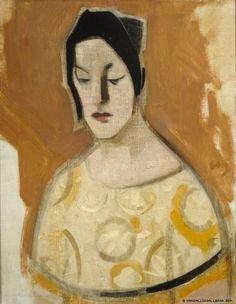 Helene Schjerfbeck (Finnish artist, ) The Fortune-Teller (Woman in Yellow Dress), 1926 Helene Schjerfbeck, Harlem Renaissance, Pop Art, Female Painters, Nordic Art, Art Brut, Fortune Teller, Art Graphique, Figure Painting