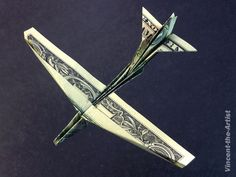 Dollar Bill Origami B-52 STRATOFORTRESS Jet Fighter Airplane Made of Real Money