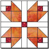 Pieced Tulips free quilt block pattern
