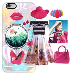 """""""Hot Air Balloon"""" by fashionliteracy on Polyvore featuring Casetify, Chicwish, MSGM, Judith Leiber, Michael Antonio, Ralph Lauren, Vanhi, Lanvin and Lime Crime"""