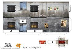 Paper Models Buildings - Model Railroad Paper Buildings, Free HO Scale ...