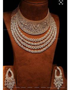 Diamond Necklace Set / Set of 2 Necklaces / Stacked Layered Diamond Necklaces / Listing is for 2 Layered Diamond Necklaces - Fine Jewelry Ideas Bijoux Design, Schmuck Design, Jewelry Design, Designer Jewellery, Diamond Choker Necklace, Diamond Jewelry, Gold Jewellery, Opal Jewelry, Turquoise Jewelry