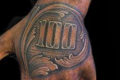 Gambling money tattoo on man left hand 100 tattoo, money tattoo, hand tattoos, Left Hand Tattoo, Hand Tattoos, 100 Tattoo, Sleeve Tattoos, Tattoo Fonts, Forearm Tattoos, Dollar Tattoo, 100 Dollar Bill Tattoo, Money Tattoo