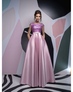 4c78a60fddf6 Dlhé luxusné saténové spoločenské šaty s flitrami Isabel vhodné na ples