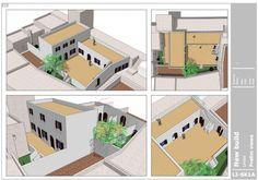 3D diagrammatic interpretation of design for villa