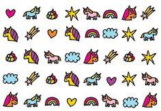 unicorn nageltattoos - decals - Shop - Eva Mouton